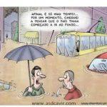 Afinal é só mau tempo! Cartoon Expresso