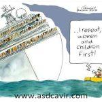 Evacuação dos passageiros do Costa Concordia