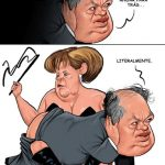 Angela Merkel e Alberto João Jardim