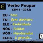 Conjugação do verbo poupar