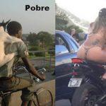 Diferença entre rico e pobre