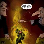 Cartoons – A imolação – TSU – Pedro Passos Coelho – Paulo Portas