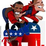 Cartoons – Barack Obama e Mitt Romney