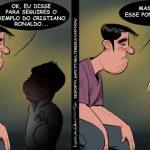 Cartoons – A cotovelada que Cristiano Ronaldo levou no olho