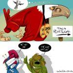 Cartoon – Juntos na dor