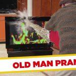 Apanhados – Velhinho deita água em cima da TV