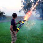 Arma que dispara fogo de artifício