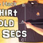 Como dobrar uma camisa ou t-shirt em menos de 2 segundos