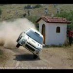 Compilação com acidentes de rally