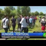 Cristiano Ronaldo atira microfone da CMTV para dentro do lago