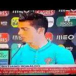 Cristiano Ronaldo recusa responder à jornalista da CMTV