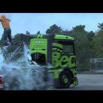 Fazer drift com um camião