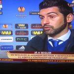 Flash Interview de Paulo Fonseca após jogo com Eintracht de Frankfurt