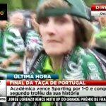 Jornalista da SIC agredida por adeptos do Sporting no final da Taça de Portugal