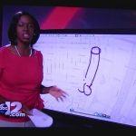 Jornalista desenha inadvertidamente um pénis em direto