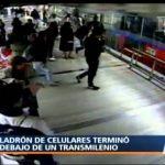Ladrão rouba telemóvel mas acaba por ser atropelado por um autocarro