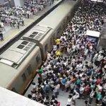 Metro na China em hora de ponta