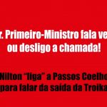 Nilton ligou/telefonou a Passos Coelho – Café da Manhã – RFM