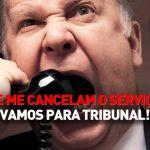 Nilton – Se me cancelam o serviço, vamos para tribunal – Café da manhã – RFM