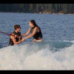 Pedido de casamento em cima da água