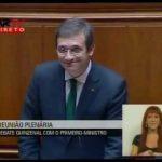 Pedro Passos Coelho interrompido por Grândola Vila Morena – Movimento que se lixe a Troika