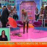 Queda de Cristina Ferreira em directo no Você na TV da TVI