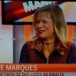 Rute Marques cai em directo no Manhã CMTV